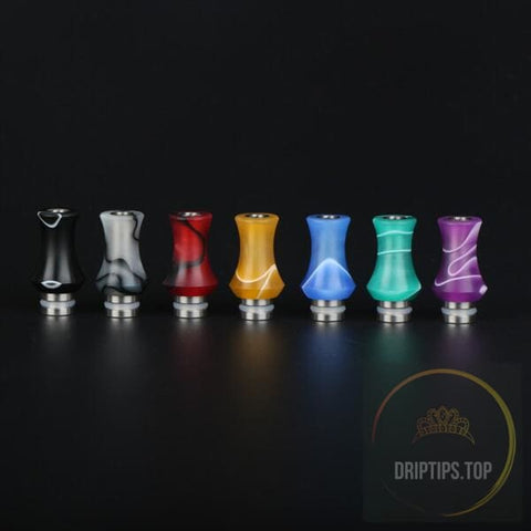 Teflon With Stainless Steel Base Insert 510 Drip Tips