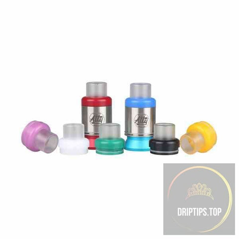Transparent Acrylic + Colorful Pom Resin Top Caps For Atty Rda