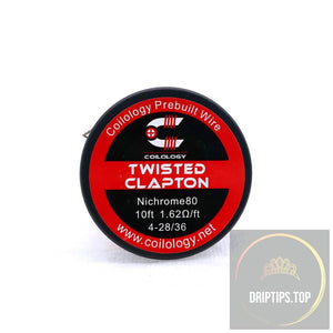 Twisted Clapton - Coilology Spooled Wire 4-28/36 Nichrome80 1.62 Ohm/ft 10 Ft Per Roll