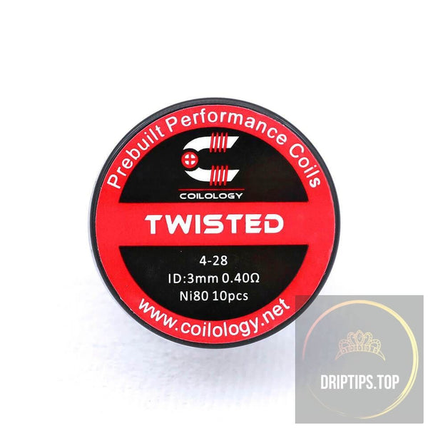 Twisted - Coilology Prebuilt Coils 4-28 Id:3.0Mm Ni80 0.40 Ohm 10 Pcs