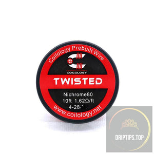 Twisted - Coilology Spooled Wire 4-28 Nichrome80 1.62 Ohm/ft 10 Ft Per Roll