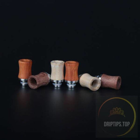 Wood With Ss Base 510 Drip Tips -23Mm Long