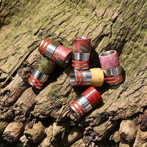 stabilized wood drip tips