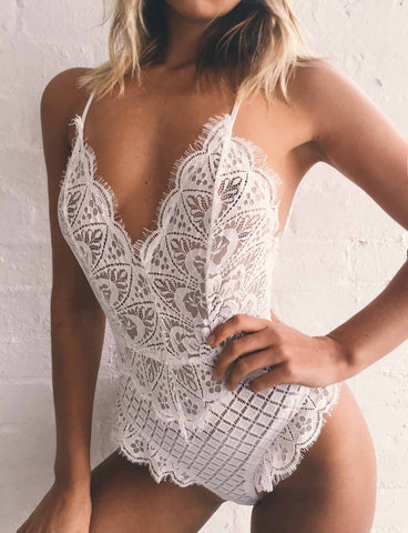 Sexy and Cute Lace Bodysuit