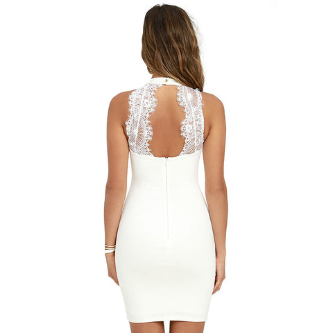 Elegant Sleeveless Mini Dress