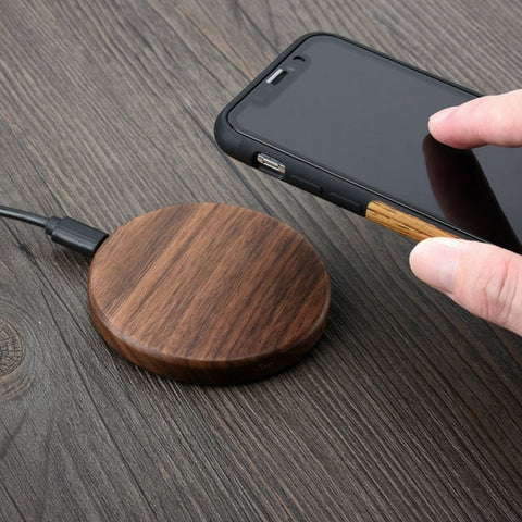 Chargeur a induction iphone samsung en bois
