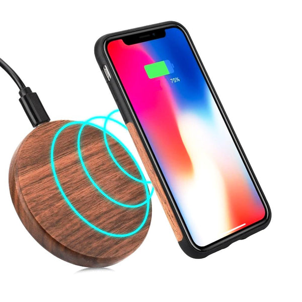 Chargeur induction bois iphone et samsung