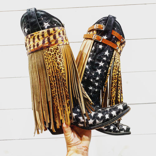 Boot Buckles - Long Fringe
