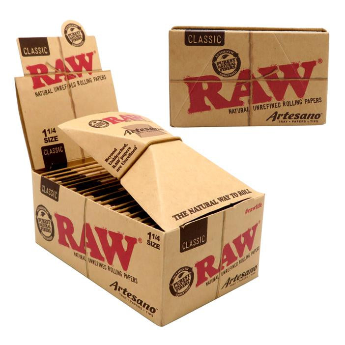 RAW ARTESANO CLASSIC 1 1/4 Fold-Out-Tray with Tips