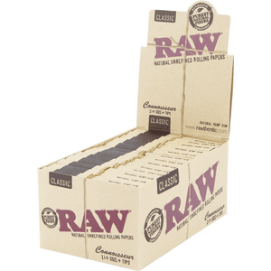 RAW 1 1/4 CONNOISSEUR W/TIPS