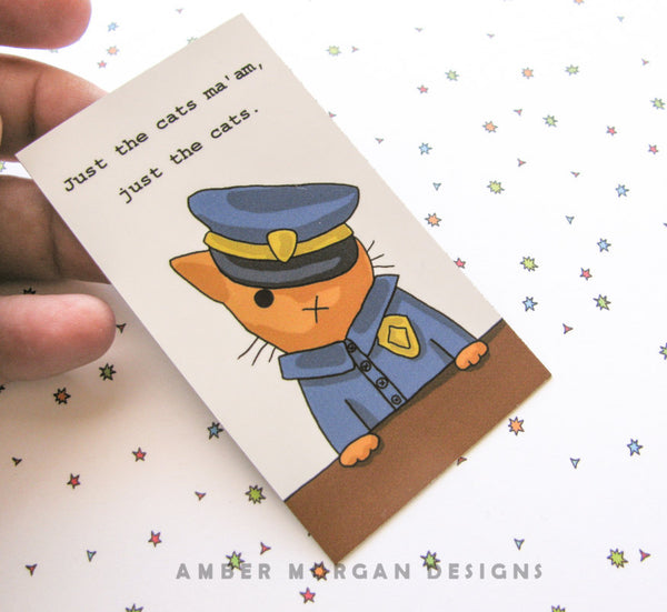 Officer Kitty Magnet