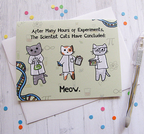 Science Kittens Greeting Card
