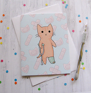 Boo Boo Kitty Greeting Card