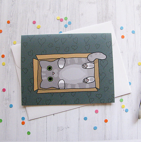 Box Kitty Greeting Card