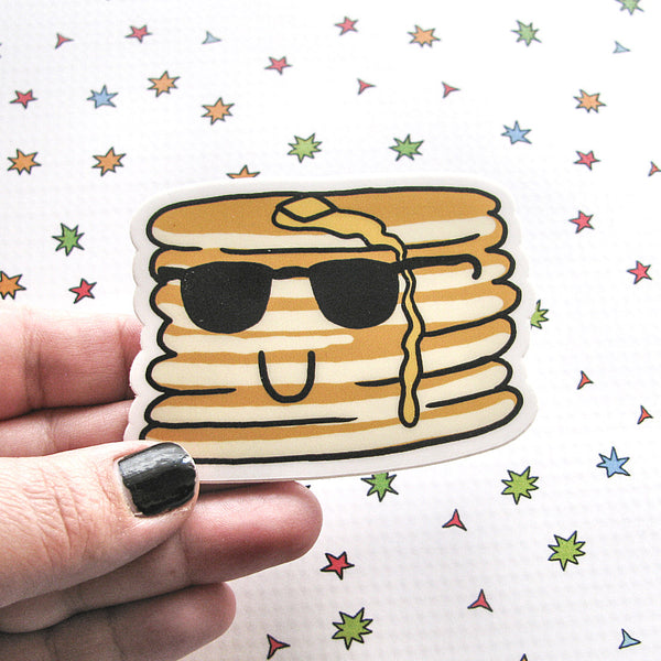 Cool Pancakes Vinyl Sticker