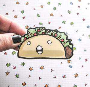 Crazy Taco Vinyl Sticker