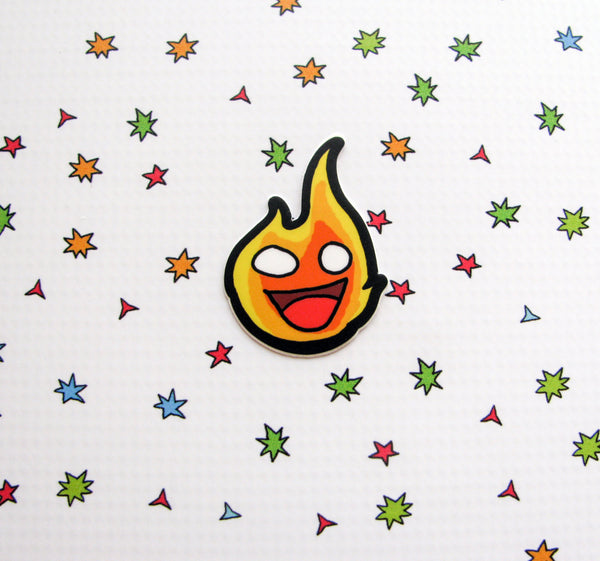 Funky Flame Vinyl Sticker