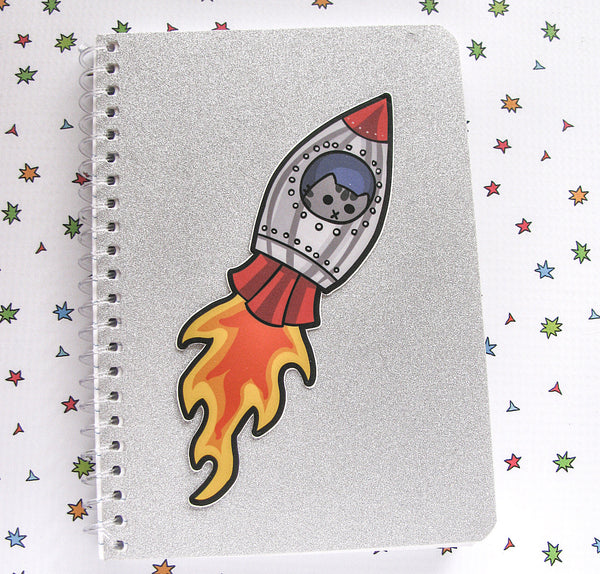 Rocket Kitty Large Vinyl Sticker