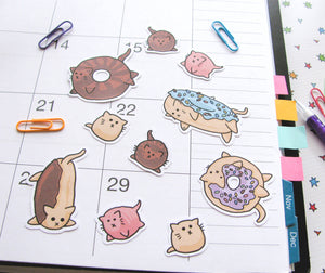 Donut Cats Sticker Flakes