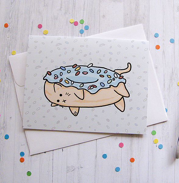 Donut Cat Greeting Card