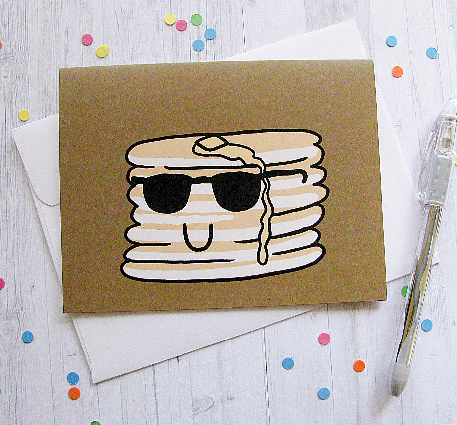 Cool Pancakes Greeting Card