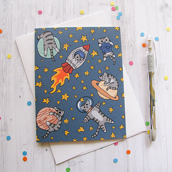 Space Cats Greeting Card