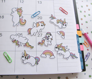 Rainbow Ponies Sticker Flakes