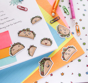 Crazy Taco Sticker Flakes
