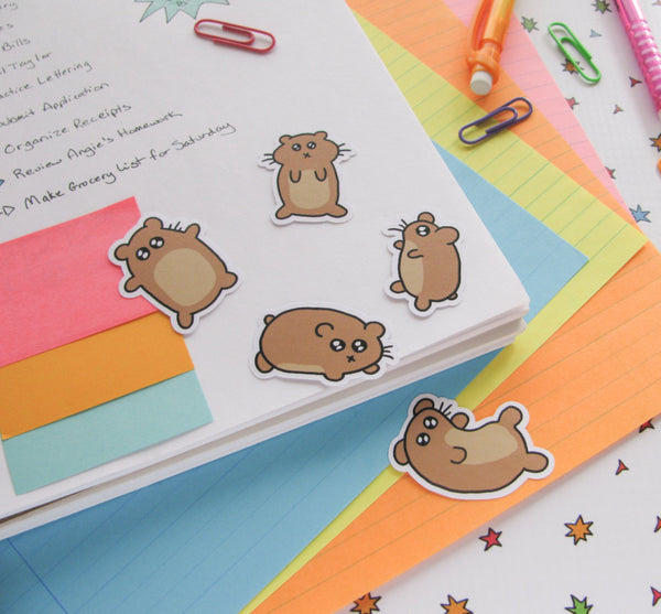 Silly Hamsters Sticker Flakes