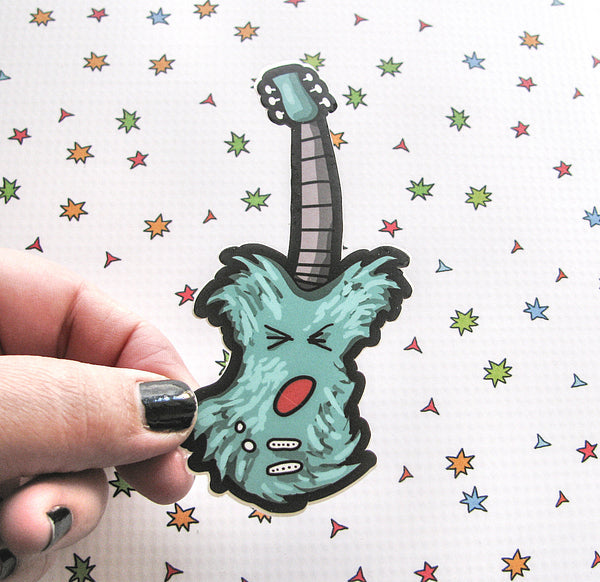Monster Guitar Vinyl Sticker