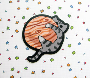 Kitty on Jupiter Large Vinyl Sticker