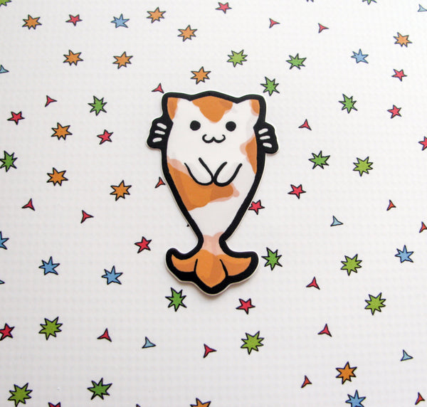 Kitty Koi Vinyl Sticker