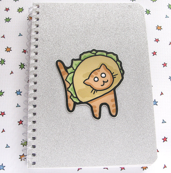 Ginger Taco Cat Vinyl Sticker