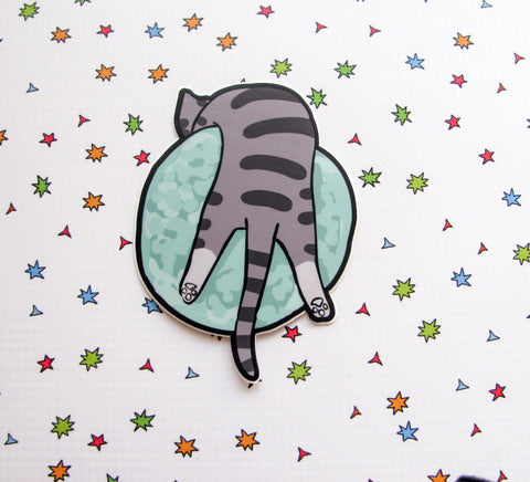 Kitty on Neptune Large Vinyl Sticker
