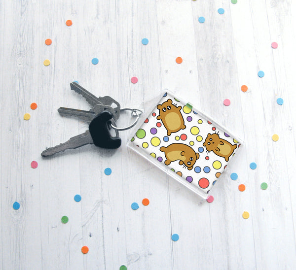 Silly Hamsters Keychain