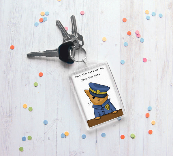 Officer Kitty Keychain