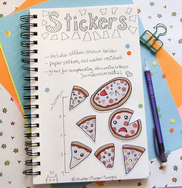 Pizza Party Sticker Flakes