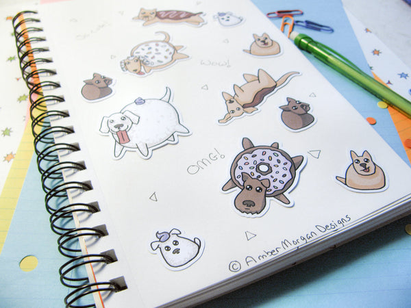 Donut Dog Sticker Flakes