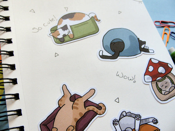 Cats N Beds Sticker Flakes