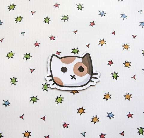 Calico Cat Face Magnet