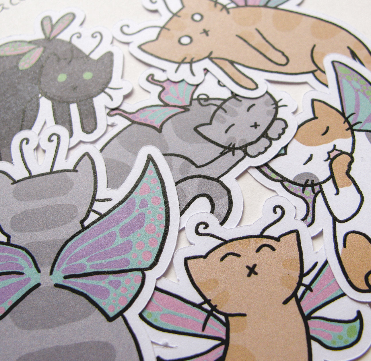 Fairy Cats Sticker Flakes