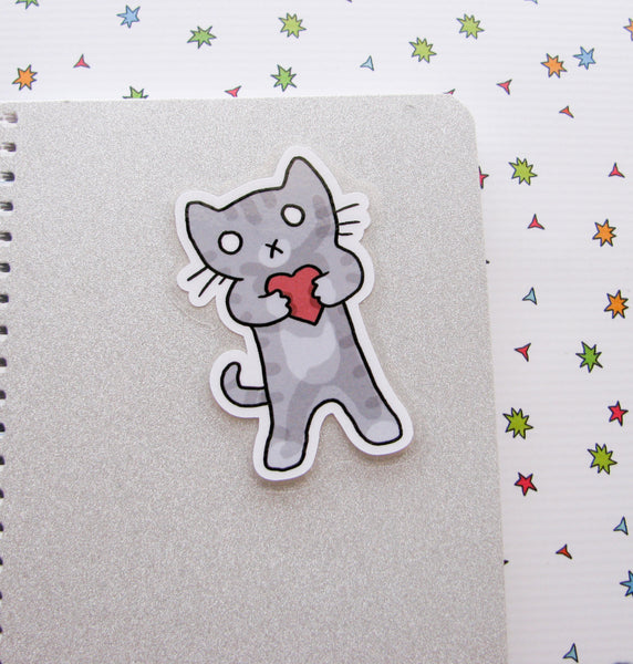 Valentine Kitty Bookmarker
