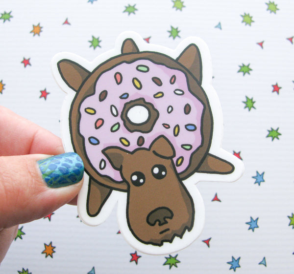 Donut Dog Vinyl Sticker