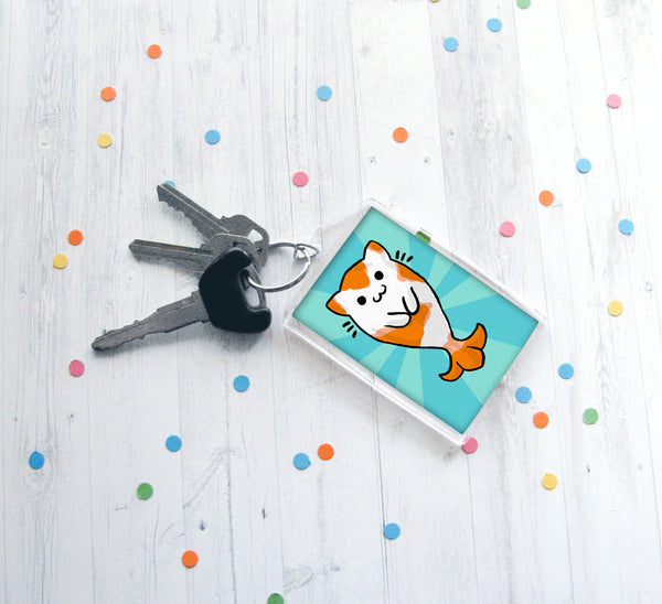 Kitty Koi Keychain