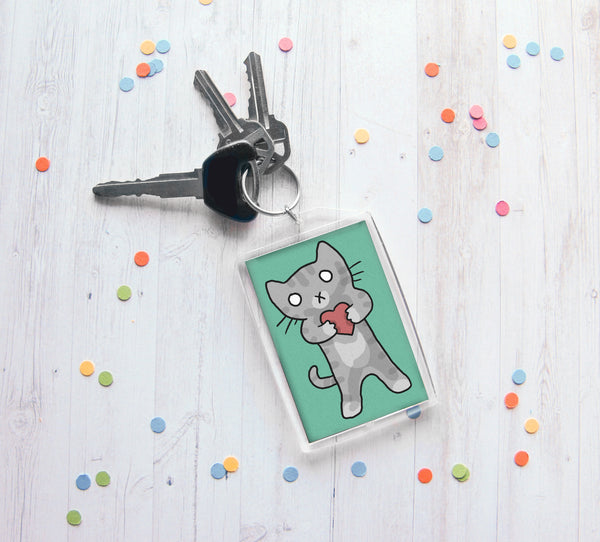 Valentine Kitty Keychain