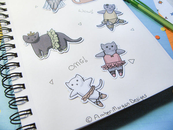 Ballet Cats Sticker Flakes