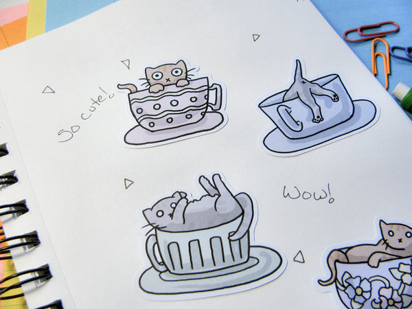 Teacup Kittens Sticker Flakes