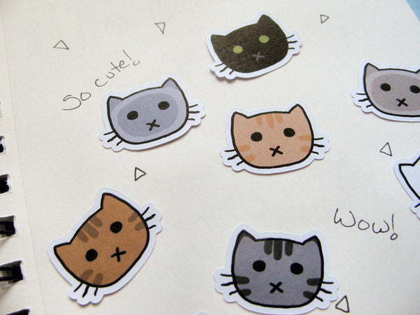 Kitty Face Sticker Flakes