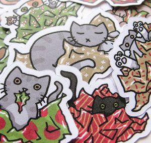 Cats Vs Wrapping Paper Sticker Flakes