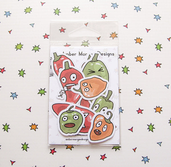 Hawt Peppers Sticker Flakes